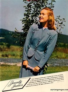 A lovely springtime look from Jaunty Junior, 1946.