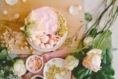 Constellation Inspiration: White Chocolate Spiced Cake with Rosewater Cream Cheese and Pistachios