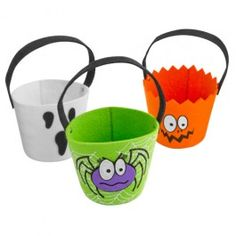 Halloween Character Assorted Loot Buckets - Trick or Treat - Halloween Halloween Items, Halloween Trick Or Treat, Halloween Treats, Halloween Fun, Halloween Decorations, Playing Dress Up, Dog Bowls, My Favorite Things, Character