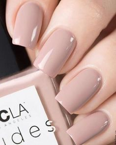 We have 6 nudes in our collection, pictured is 💅🏻, which is a nude with a pink undertone. Swatch via – Nails Club Classy Nails, Stylish Nails, Simple Nails, Casual Nails, Neutral Nails, Nude Nails, Nail Manicure, Gel Nail, Milky Nails