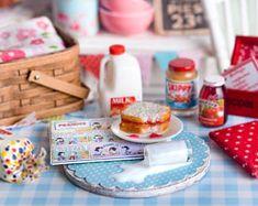 Miniature Spilled Milk/Peanut Butter & Jelly Sandwich Set