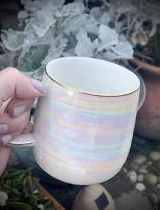 Iridescent Glazed Coffee Mug Coffee Mug Quotes, Cute Coffee Mugs, Cute Mugs, Coffee Cups, Coffee Latte, The Grinch, To Go Becher, Elephant Mugs, Alexander Girard