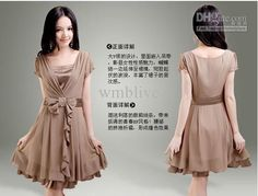 Wholesale 2012 Fashion New ladies' Women Graceful Gentlewomanly Sleeve Chiffon Dress, $23.75/Piece | DHgate