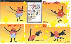 Fletchinder (Pokemon) papercraft (free download) by Antyyy.deviantart.com on @DeviantArt