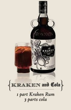 The Kraken™ Black Spiced Rum - Recipes (Comfort Food and Scary Movie Night: Drink) Cocktail Shots, Cocktails, Alcoholic Drinks, Rum Recipes, Alcohol Recipes, Bar Drinks, Yummy Drinks, Beverages, Kraken Rum