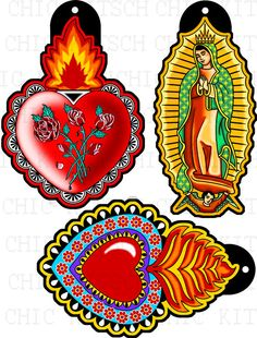 Sacred Heart Digital Pictures to Print on Shrink door ChicKitsch, $2.50