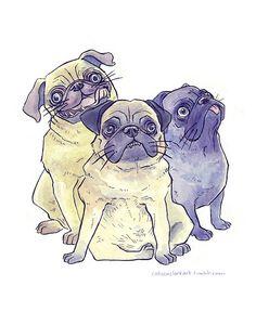 Pug Dog Drawings | pug #pugs #puppies #Dog Art #dog illustration #illustration # ...