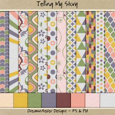 Dreamn4ever Designs: Challenge Freebies. Tell My Story Papers. *