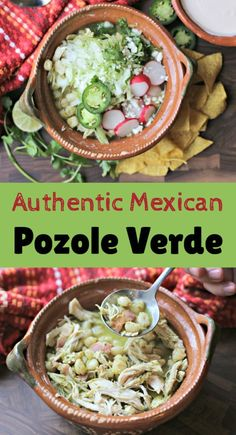 Personalized Graduation Gifts - Ideas To Pick Low Cost Graduation Offers If You Love Our Pozole Rojo Recipe, Then You Will Want To Try This Pozole Verde Recipe. The Preparation Is Similar, But There Are Some Important Differences Healthy Mexican Recipes, Mexican Dinner Recipes, Raw Food Recipes, Mexican Desserts, Drink Recipes, Dessert Recipes, Mexican Fiesta Food, Mexican Dishes, Ceviche Mexican
