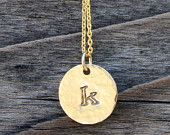 NEW - Gold Filled Monogramed Necklace - Personalized Mom Jewelry, Family Jewelry, Perfect Christmas Gift, Holiday Gift
