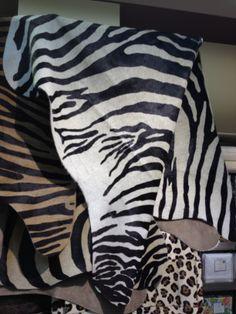 Zara Zebra ponyskin rugs