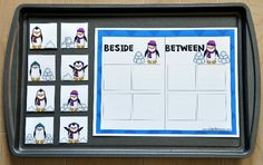 Penguin Positionals Cookie Sheet Activities - Click Image to Close
