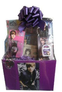 Ultimate Justin Bieber Gift Basket! ILL TAKE THIS!!!!