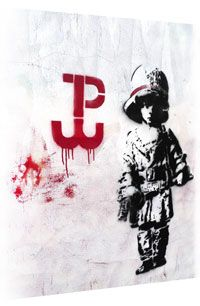 this is a sign of Polish underground army in times of nazi occupation . and a very yound boy because there were kids fighting then Wwii, Artworks, Graffiti, Street Art, Polish, Sign, Times, Creative, Poster