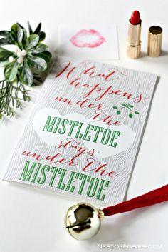 Mistletoe Love Note @Nest of Posies