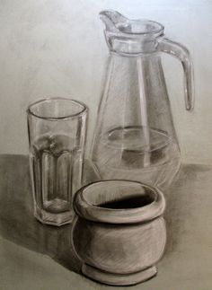 Sped-Up video of a basic still life drawing using measurement Still Life Sketch, Still Life Drawing, Still Life Art, Still Life Pencil Shading, Pencil Art, Pencil Drawings, Object Drawing, Drawing Lessons, Sketch Design