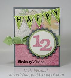 Happy Birthday Wishes - girl. by Vicki Wizniuk, CTMH Independent Consultant