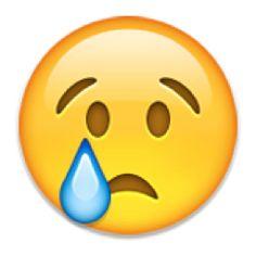 The Crying Face Emoji on iEmoji.com