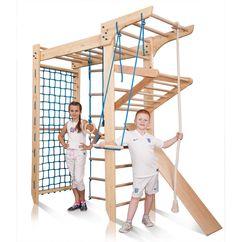 Barnet ditt vil alltid være i god form! Dette produktet må være hjemme hos alle familier med barn og voksne som liker å trene. Denne modellen inneholder en rekke nyttige elementer og barn vil alltid være i godt humør mens de henger i ribbeveggen.