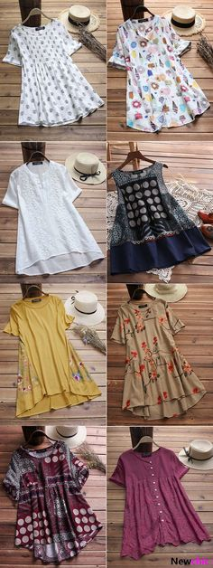 Up to 65 OFF Plus Size Summer Tops.Therere So Blouse,Shirts,Tank Tops and T-shirt for You to Choose. Stylish Dress Designs, Designs For Dresses, Stylish Dresses, Kurta Designs Women, Blouse Designs, Frock Fashion, Fashion Dresses, Casual Frocks, Kurti Designs Party Wear