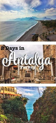 Two days budget guide in Antalya, Turey! Antalya coast of Turkey Europe Destinations, Turkey Destinations, Travel Europe, Turkey Vacation, Turkey Travel, Turkey Resorts, The Places Youll Go, Places To Visit, Turkey Culture