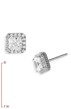 Diamond Earrings Nordstrom Pavé Square Stud Available At Women S Pave Swarovski Crystal And Cubic