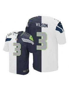 3cae17d67 Seattle Seahawks Nike Men s  3 Russell Wilson Elite Navy White Split Fashion