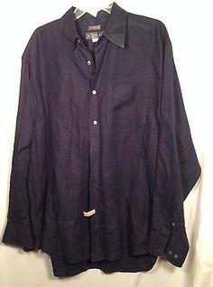 Banana Republic 100% Irish Linen Shirt Button Front Long Sleeve  Mens Large Blue #promo http://bayfeeds.com/ebayitem.php?itemid=231669328352