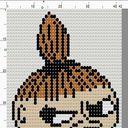 「ドット絵 リトルミィ」/「tica」[pixiv] Little My, Knit Patterns, Pixiv, Cross Stitch, Embroidery, Knitting, Fictional Characters, Warm, Knitting Stitches