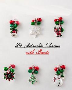 24 Adorable Christmas Charms & Beads, starting at $20.