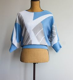23f782abb Vintage Crop Sweater - Skyler available only at Yesterdayslove.com Cropped  Sweater