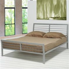 Mod Contemporary Silver Metal Twin Bed