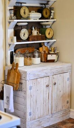 The Hoosier cabinet has been on my wishlist for decades...think I'll ever own one? COZY LITTLE HOUSE: Adorably Cozy Kitchens
