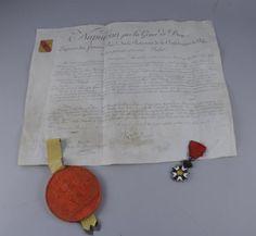 Lettres patentes de chevalier d'Olivier Ruperou, jugé à la Cour de Cassation