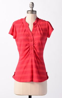 Love the buttons on this one!  Picket Fence Top  @DownEast Basics #springstyle