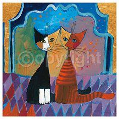 superbes chats en peinture