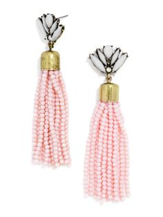 blush tassel earrings