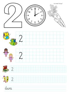 BLOG EDUKACYJNY DLA DZIECI: CYFRY 1, 2 - KARTY PRACY School Frame, Workout For Beginners, Kids And Parenting, Worksheets, Coloring Pages, Maths, Blog, School, Therapy