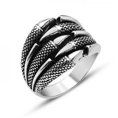 Pence temalı gümüş erkek yüzüğü | ey001