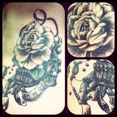#rose #skull #tattoo #reikotattoo