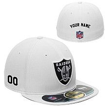 Men's New Era Oakland Raiders Customized Onfield 59Fifty Football Structured Fitted Hat
