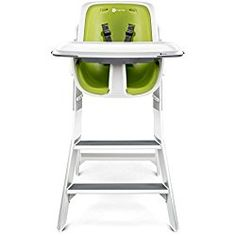 4moms High Chair, White/Green