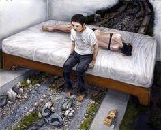 早逝的日本超寫實憂鬱派畫家:石田徹也 - 圖片22