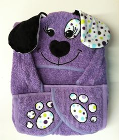 Girls Large Hooded Puppy Towel for Baby, Toddler, Child, Kids, Tots, Children in…