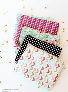 DIY zipper pouch #DIY #Sewing #Crafts