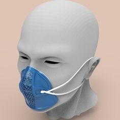 This facial mask frame is designed for those who don't have enough disposable masks. You could change the air filter inside after use. The frame Face Mas, Safety Mask, Cool Masks, Skull Mask, Skin So Soft, Air Filter, Mask Design, Facial Masks, 3d Printing