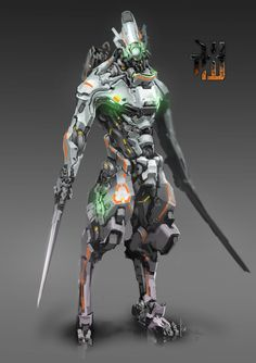 Arte Ninja, Arte Robot, Robot Concept Art, Armor Concept, Character Concept, Character Art, Robots Characters, Humanoid Robot, Futuristic Armour