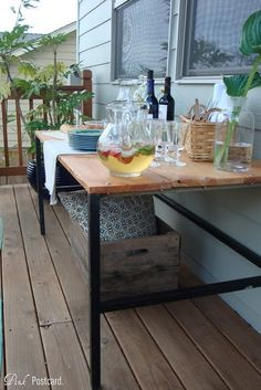 found table base with added boards