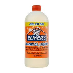 Elmers Glue Slime Magical Liquid Slime Activator Solution Ideal For Making Elmer's Glitter Glue, Glitter Slime, Contact Lens Solution, Galaxy Slime, Slime No Glue, Slime Kit, How To Make Slime, Making Slime, Clear Glue