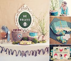 Beautiful Brave Themed Birthday Party